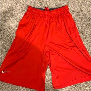 Red Nike men's shorts